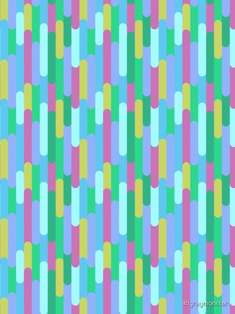 Overlapping Stripes pastel by ltlgraymonster