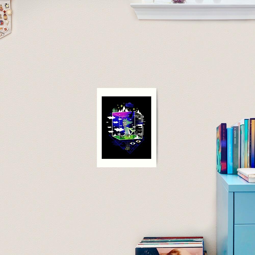 Dimensional Rick Art Print