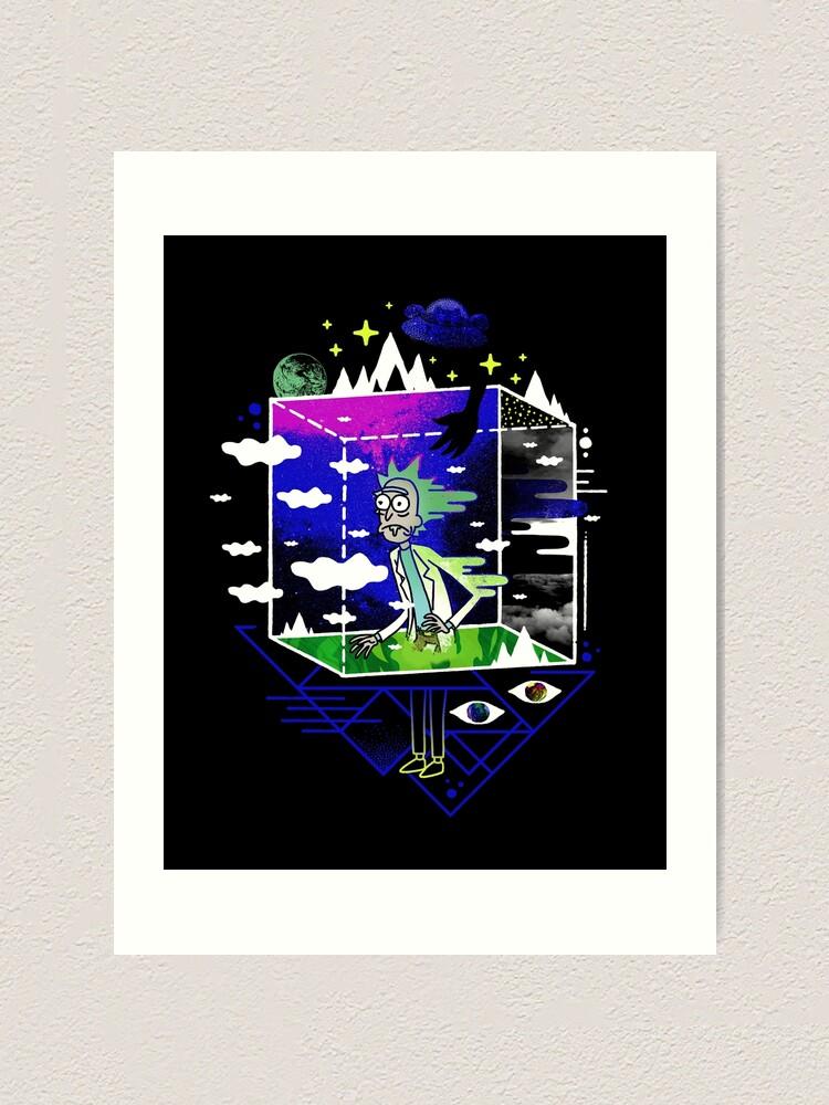 Alternate view of Dimensional Rick Art Print