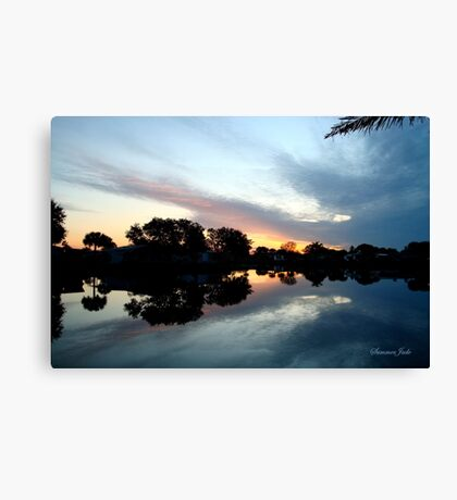 Tropical Sky ~ Lake Reflection Canvas Print