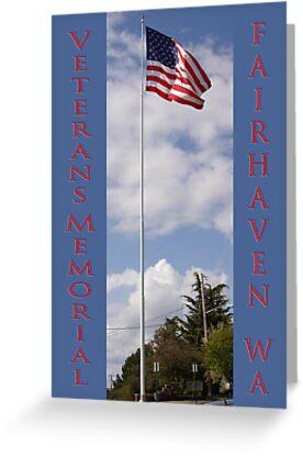 new veterans memorial flagpole, fairhaven, washington, usa by dedmanshootn