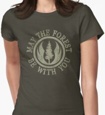 May the Forest Be With You Women's Fitted T-Shirt