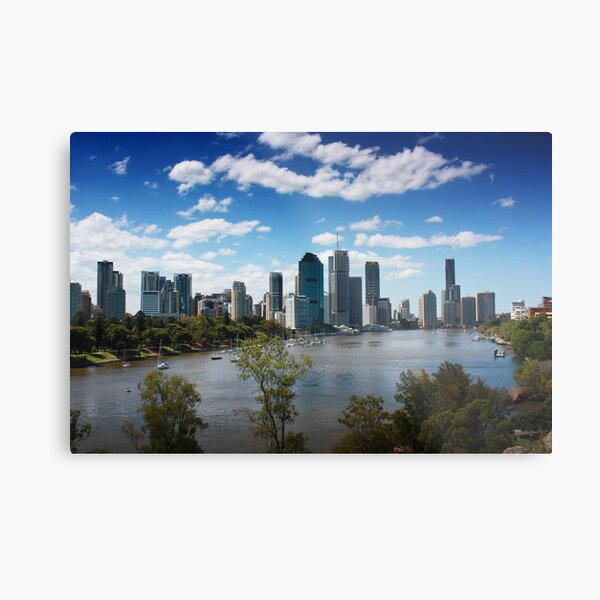 Brisbane from Kangaroo Point Cliffs Metal Print