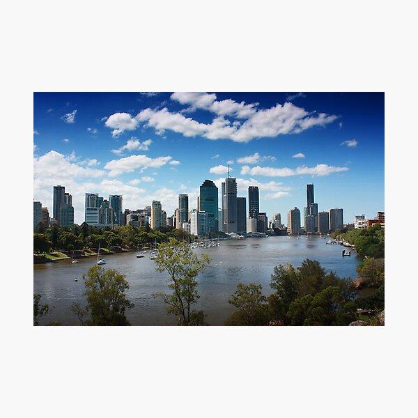 Brisbane from Kangaroo Point Cliffs Photographic Print