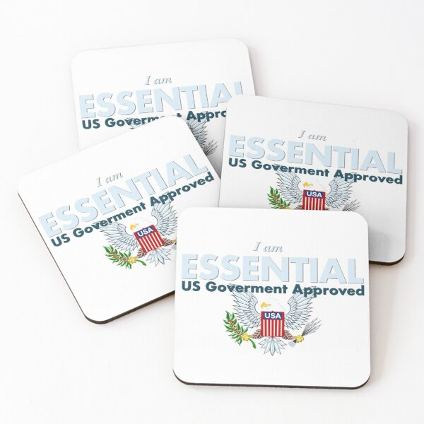 I am Essential Coasters (Set of 4)