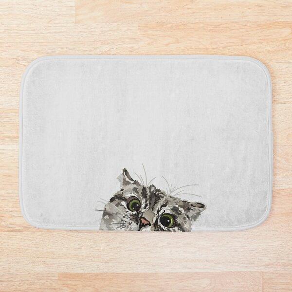 Peeking Tabby Bath Mat