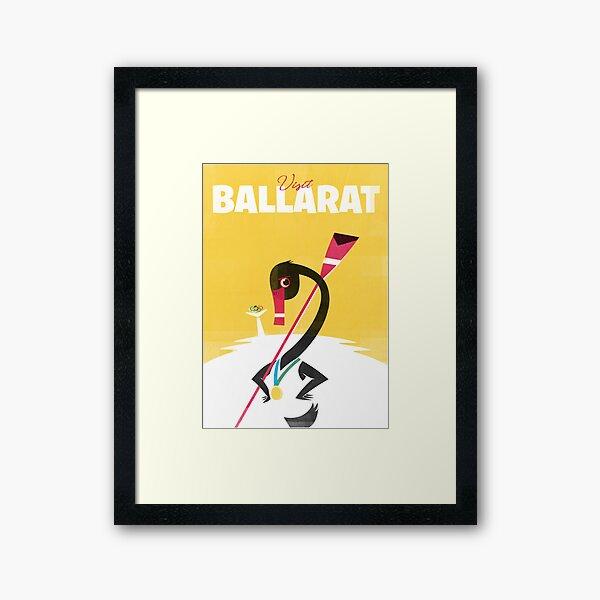 Visit Ballarat 1956 - Travel Poster Framed Art Print