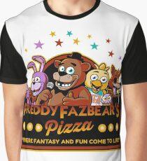 Fünf Nächte in Freddys Freddy Fazbears Pizza FNAF Logo Grafik T-Shirt