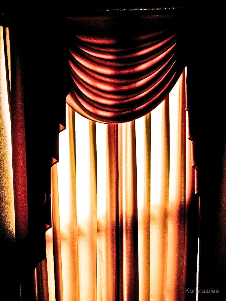 Behind the curtain... by Kornrawiee