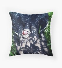 The Girl with the Black Glove. Throw Pillow