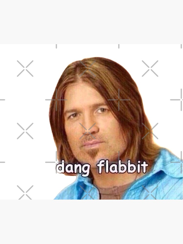 """Dang Flabbit"" Billy Ray Cyrus Sticker by jennagardnerr"