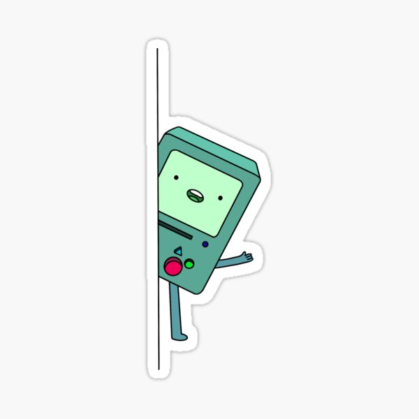 Adventure Time - hiding BMO Sticker