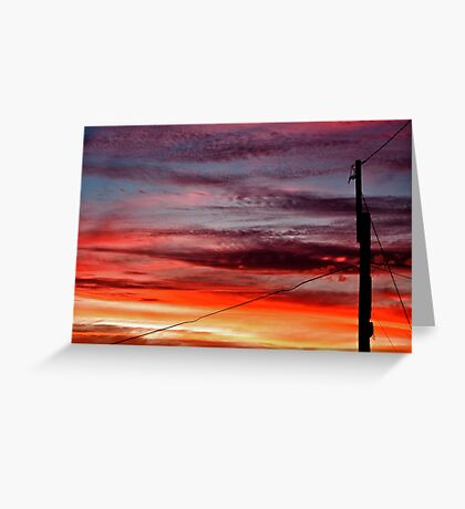 ~ suburban sunset ~ Greeting Card