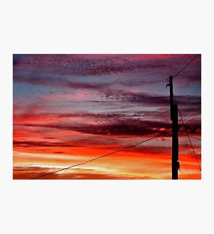 ~ suburban sunset ~ Photographic Print