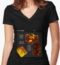 Analogue Women's Fitted V-Neck T-Shirt