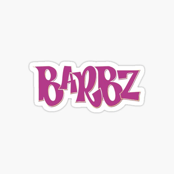 Logotipo de barbz bratz Pegatina
