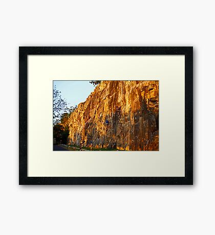 Late Afternoon Glow on the Cliffs Framed Print