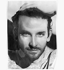 Bradley Cooper portrait Poster