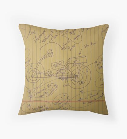 158A The Hydrogen Water Gas Powered Murphy Motorcycle 01102012 HWGPMM Throw Pillow