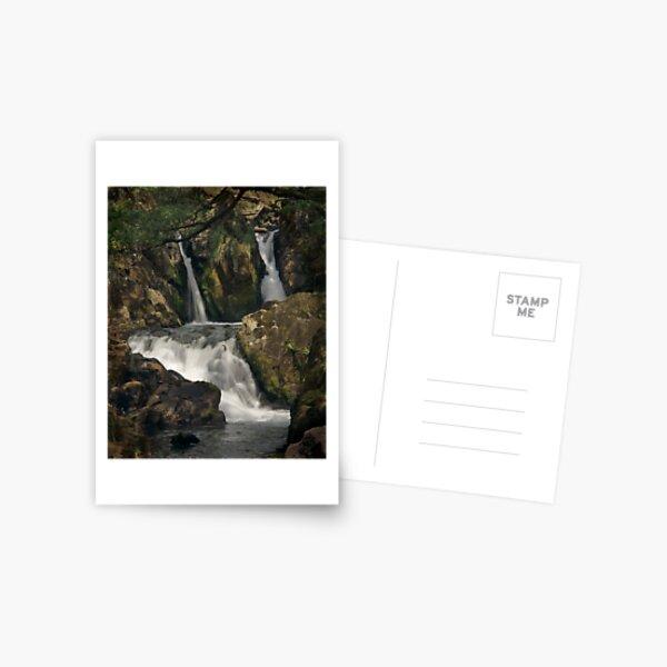 Coed Cymerau Isaf waterfall Postcard