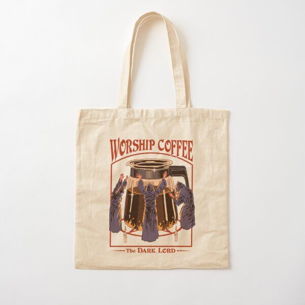 Worship Coffee Cotton Tote Bag