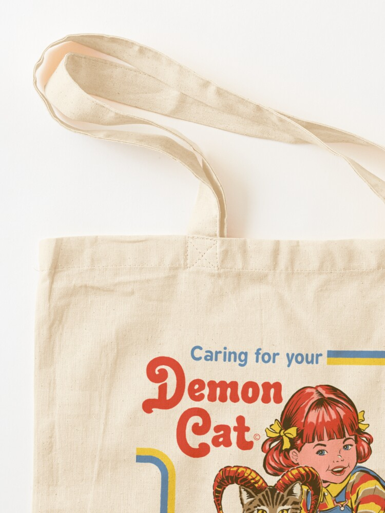 Alternate view of Caring For Your Demon Cat Tote Bag