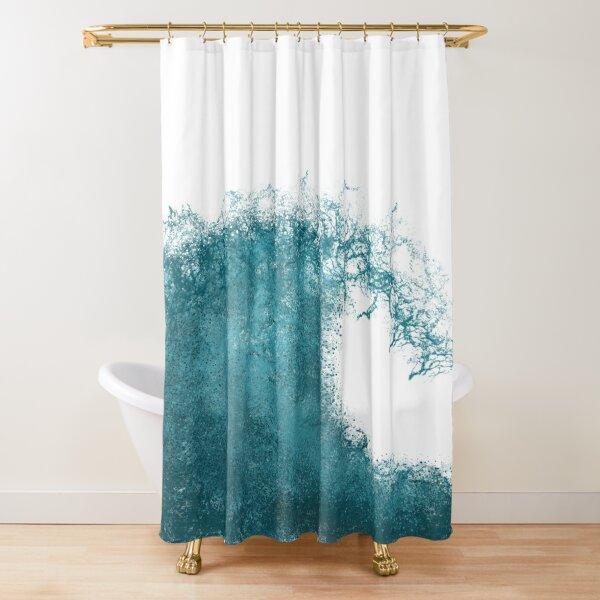 Wave Design Shower Curtain