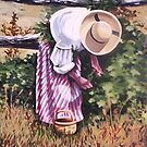Berrypicking, Upper Canada Village by Dan Wilcox