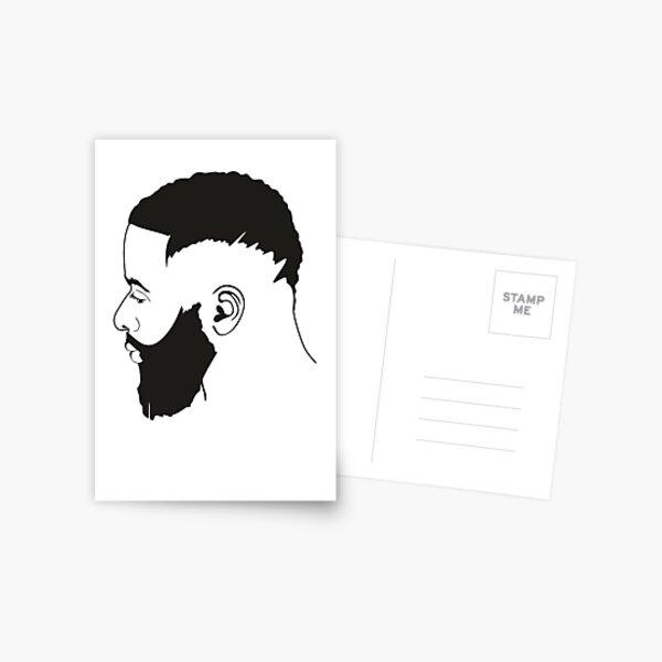 Black Natural Hair, Curly Hair, Kinky Hair Postcard