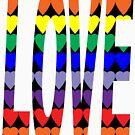 Love Rainbow Hearts by ValeriesGallery