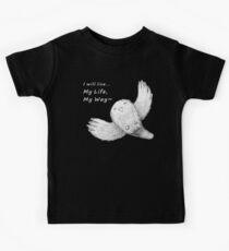 I will live My Life, My Way~ Dark Tshirt Kids Tee