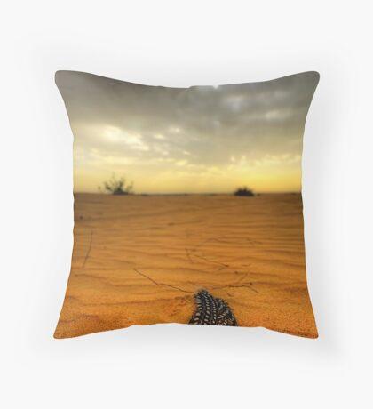 Desert Feather Throw Pillow