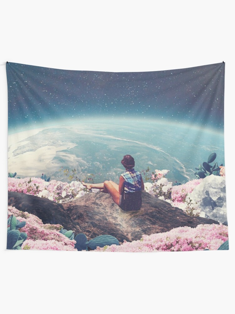 Alternate view of My World Blossomed when I Loved You Tapestry