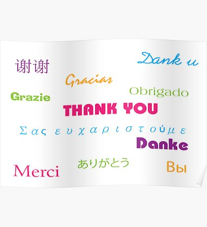 So Many Ways to Say Thanks Poster