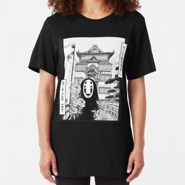 No Face Spirited Away hayao miyazaki  Slim Fit T-Shirt