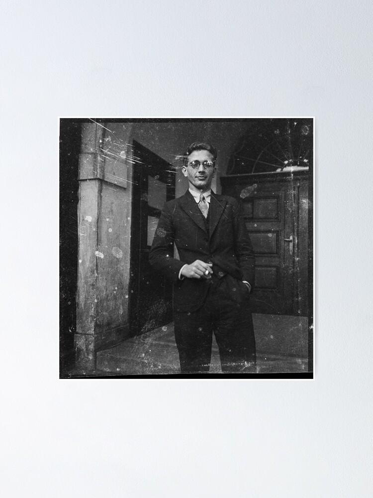 Alternate view of Портрет молодого человека с сигаретой у подъезда. Австрия в составе Третьего рейха после аншлюса в 1938 году. Poster
