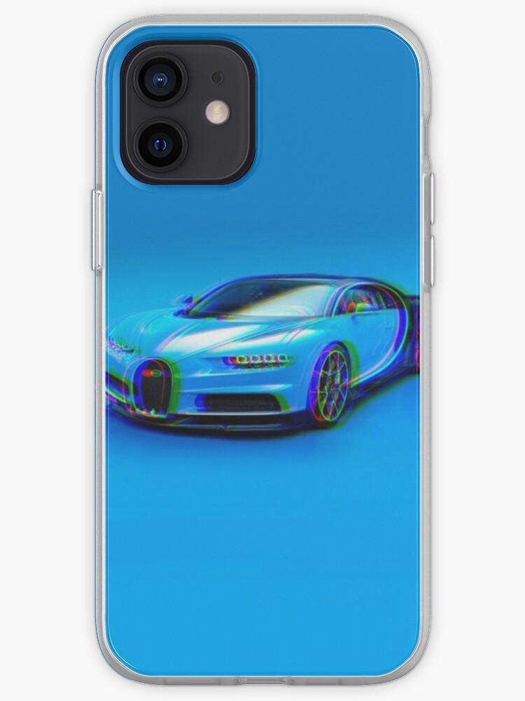 Bugatti Chiron Blue Glitch | Coque iPhone
