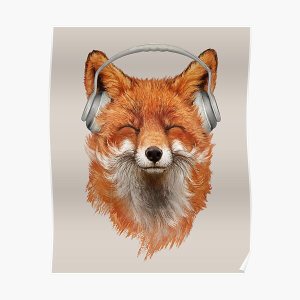 Smiling Musical Fox Poster