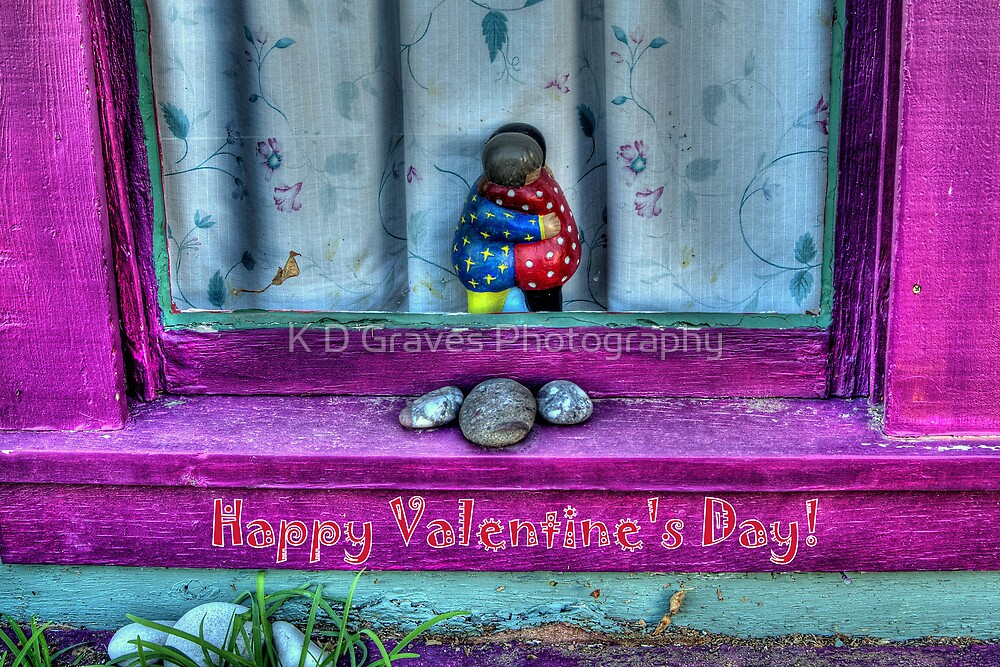 """"""" Window Hug""""  Valentine's Day Card by K D Graves Photography"""