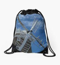 The windmill at Cley Drawstring Bag