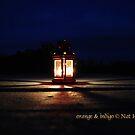 orange & indigo by NordicBlackbird