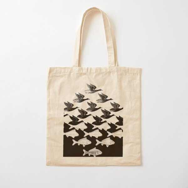 MC Escher Sky and Water I 1938 Artwork for Posters Prints Tshirts Men Women Kids Cotton Tote Bag