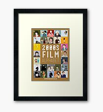 00s Film Alphabet Framed Print