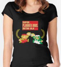 Super Plumber Bros. Retro Ale Alternate Women's Fitted Scoop T-Shirt