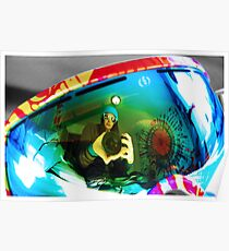 Goggle Reflection Poster