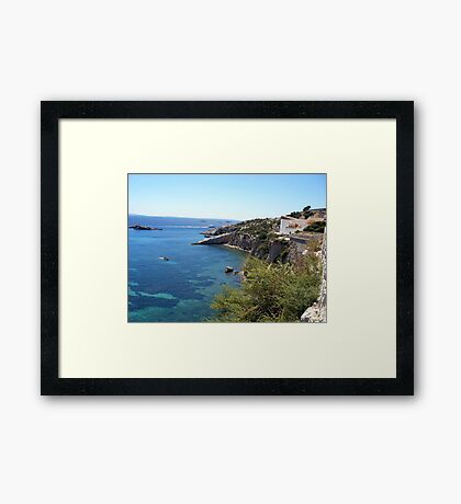 Blue Waters Around Ibiza Framed Print