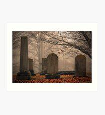 Old Gray Cemetery-1933 Art Print