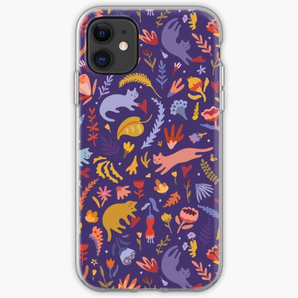 Candy Cats in the Magic Garden iPhone Soft Case