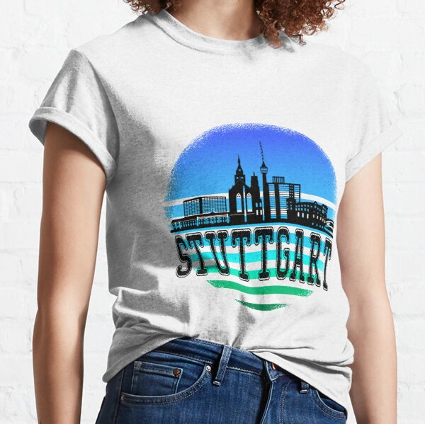 stuttgart sonnenuntergang Classic T-Shirt