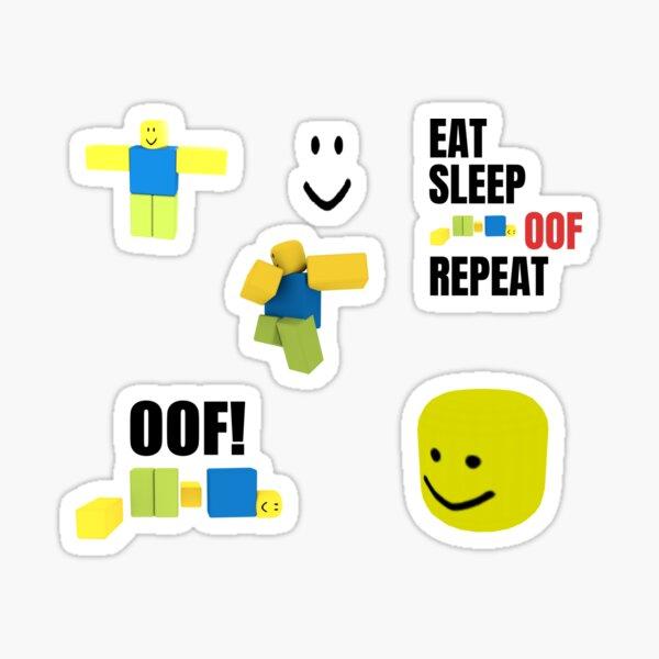 Roblox Oof Noobs Meme Aufkleber Pack Sticker